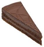 Recorte de la torta de chocolate imagenes de archivo