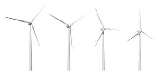 Recorte de la turbina de viento Imagen de archivo libre de regalías