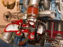 Recorte de la turbina del motor Imagenes de archivo