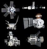 Recorte de las puntas de prueba de los vehículos espaciales Foto de archivo libre de regalías