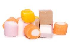 Recorte de los dulces de la mezcla del carro fotografía de archivo libre de regalías