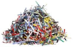 Recorte de los pedazos de papel Imagenes de archivo