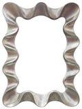 Recorte de plata del marco del espejo Imagenes de archivo