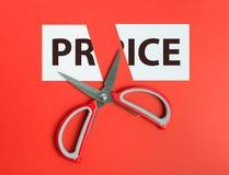 Recorte de precios Foto de archivo