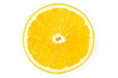 Recorte de una rebanada del limón foto de archivo