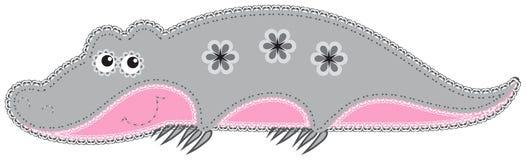 Recorte del animal de la tela. Cocodrilo libre illustration