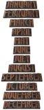 Recorte del calendario del mes del año Imágenes de archivo libres de regalías