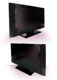 Recorte del LCD o del plasma TV contra blanco Fotografía de archivo libre de regalías