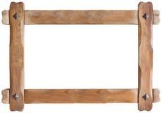 Recorte del marco de madera fotografía de archivo