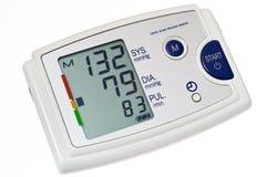Recorte del monitor de la presión arterial fotografía de archivo libre de regalías