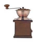 Recorte del perfil de la amoladora de café imagen de archivo