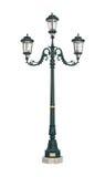 Recorte del poste de la lámpara de la luz de calle Fotos de archivo libres de regalías