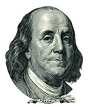 Recorte del retrato de Franklin Benjamin (trayectoria de recortes) Fotos de archivo libres de regalías