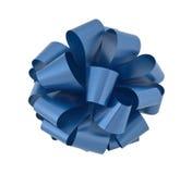 Recorte grande del arqueamiento de la cinta azul Fotografía de archivo libre de regalías