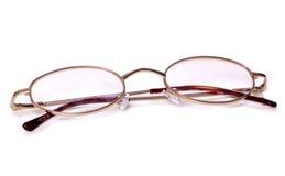 Recorte oval de los vidrios de lectura fotos de archivo