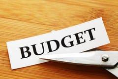 Recorte presupuestario Imagen de archivo libre de regalías