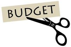 Recorte presupuestario Imágenes de archivo libres de regalías