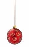 Recorte rojo de la bola de la Navidad imagen de archivo