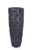 Recorte tapizado cuero negro del florero Fotografía de archivo libre de regalías