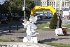 Recorte Tom y Jerry imagenes de archivo