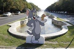 Recorte Tom y Jerry imágenes de archivo libres de regalías