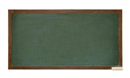 Recorte verde de la pizarra de la escuela Fotos de archivo