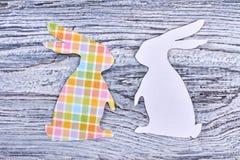 Recortes de papel del conejo, visión superior Fotografía de archivo libre de regalías