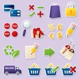 Recortes en línea de las compras Imagen de archivo libre de regalías