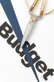 Recortes presupuestarios Imágenes de archivo libres de regalías