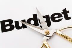 Recortes presupuestarios Fotografía de archivo libre de regalías