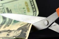 Recortes presupuestarios/inflación Fotografía de archivo libre de regalías