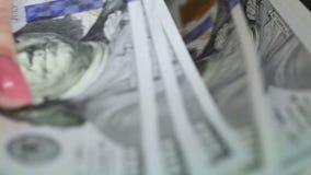Recount dollars stock footage