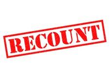 RECOUNT Rubber Stamp. RECOUNT red Rubber Stamp over a white background Stock Photo