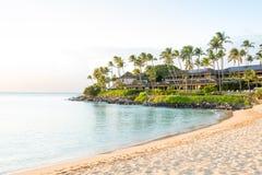 Recourez dans une baie de Maui, Hawaï Images stock