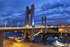 Recouvrance-Brücke, Brest, Frankreich Lizenzfreies Stockbild
