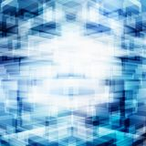 Recouvrement géométrique futuriste virtuel abstrait de la technologie 3D sur le fond bleu avec l'éclairage Grande perspective de  illustration libre de droits