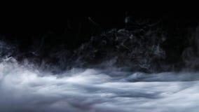 Recouvrement réaliste de brouillard de nuages de fumée de glace carbonique photographie stock