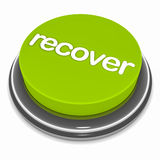 Recover button. Button for recovering, over white background, economic and financial recovery or data recovery concept Stock Photo