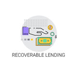 Recoverable Lending Business Funding Concept Icon. Vector Illustration Royalty Free Stock Photo