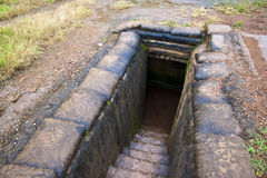 Recovered Frech trenches in Dien Bien Phu