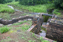 Recovered French trenches in Dien Bien Phu Royalty Free Stock Photography