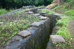 Recovered French trenches in Dien Bien Phu stock photo