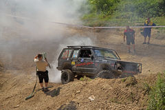 Recovering of a off road car Stock Photography