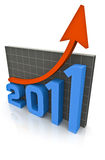 Recovery in 2011 Graph Stock Photo