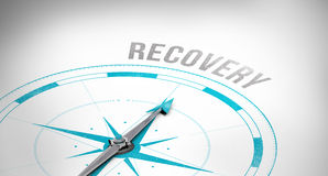 Recovery against compass Stock Photos