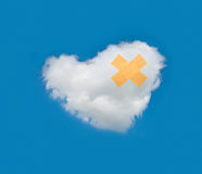 Recovery cloud heart Royalty Free Stock Photo