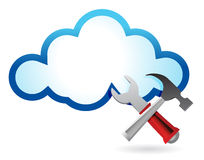 Recovery concept with cloud computing vector illustration