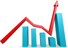 Recovery graph Royalty Free Stock Photography