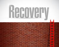 Recovery ladder illustration design Royalty Free Stock Photos