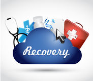 Recovery medical symbols illustration Stock Photos